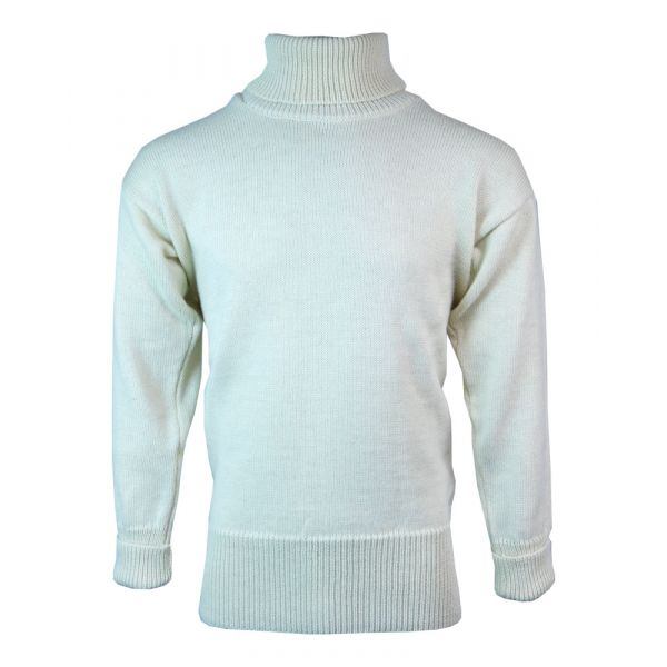 Submariner - Pure Wool Sweater in Ecru from The Richmond Range by Crystal Knitwear