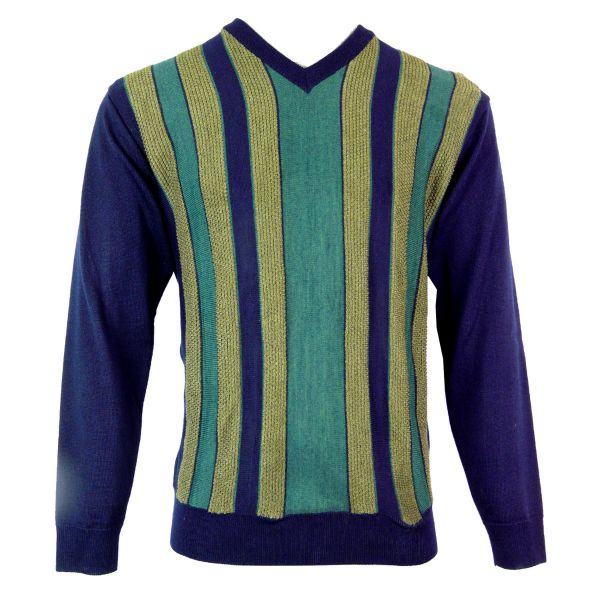 Gabicci V Neck Jumper with Contrast Front Stripes