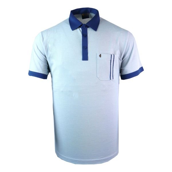Classic Gabicci Polo Shirt With Contrast Collar and Twin Stripe Pocket