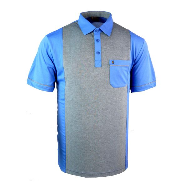 Classic Gabicci Polo Shirt with Block Colour Front