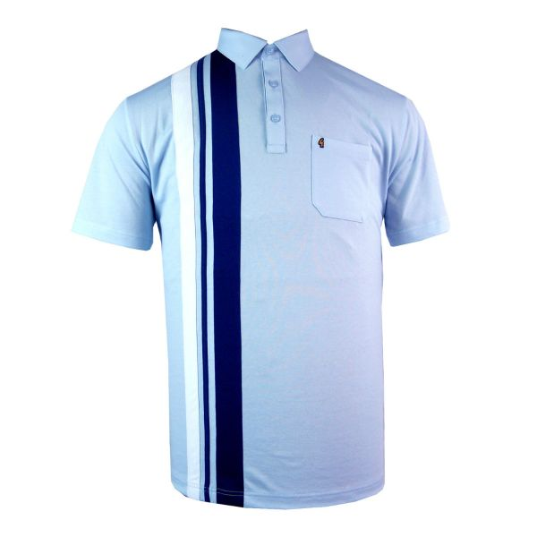 Classic Gabicci Polo Shirt with One Side Stripes