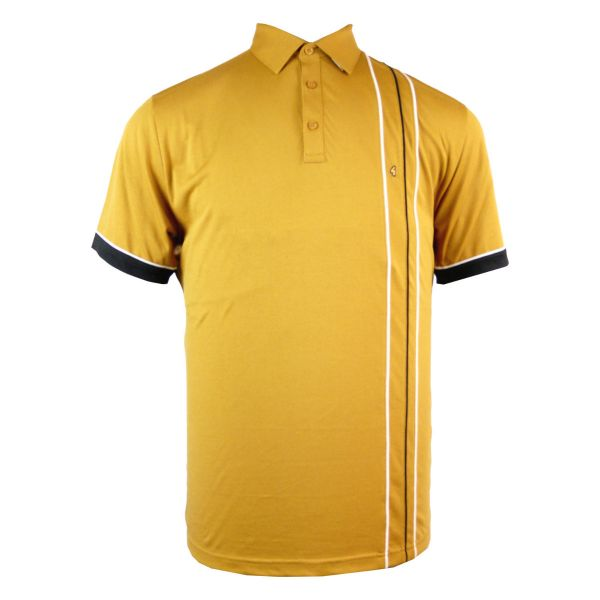 Classic Gabicci Polo Shirt with One Side Pencil Stripes