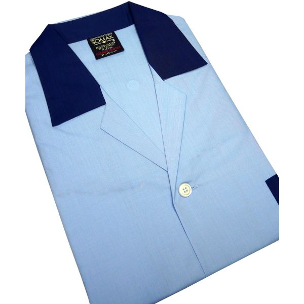 Sky Blue Easycare Men's NIGHT SHIRT - Somax  in sizes S - 6XL