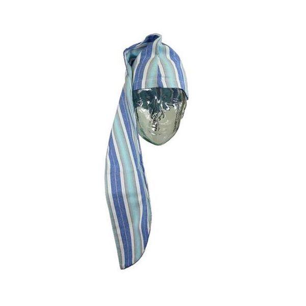 Blue Flannelette Cotton Nightcap