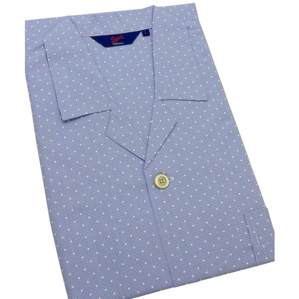 Gingham with White Spots Cotton Pyjamas from Somax