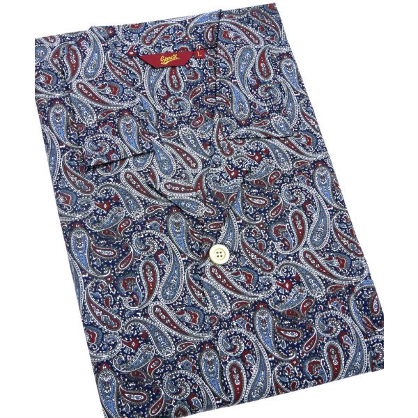 Navy Paisley Design Cotton Pyjamas from Somax