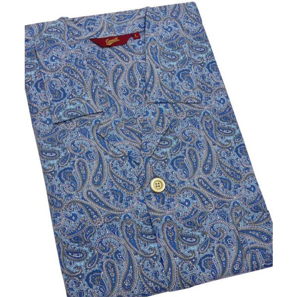 Turquoise Paisley Design Cotton Pyjamas from Somax
