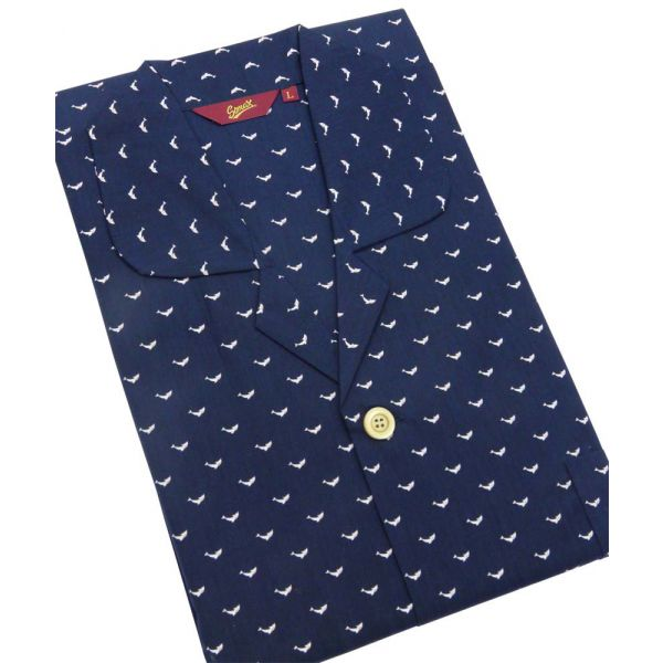 Navy with Dolphins Design Cotton Pyjamas from Somax