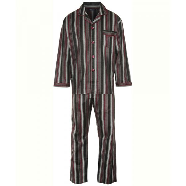Kingston. Burgundy Stripe Cotton Pyjamas from Champion