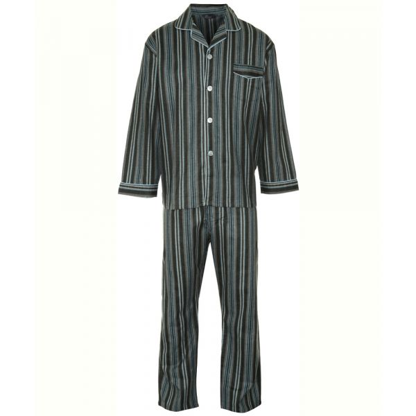 Kingston. Blue Stripe Cotton Pyjamas from Champion