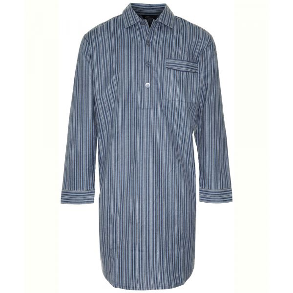 Harrow. Navy Stripe Cotton Nightshirt from Champion