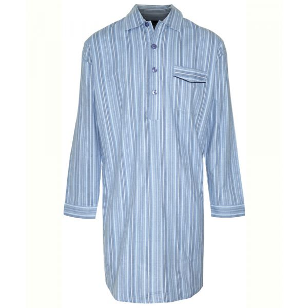 Harrow. Blue Stripe Cotton Nightshirt from Champion