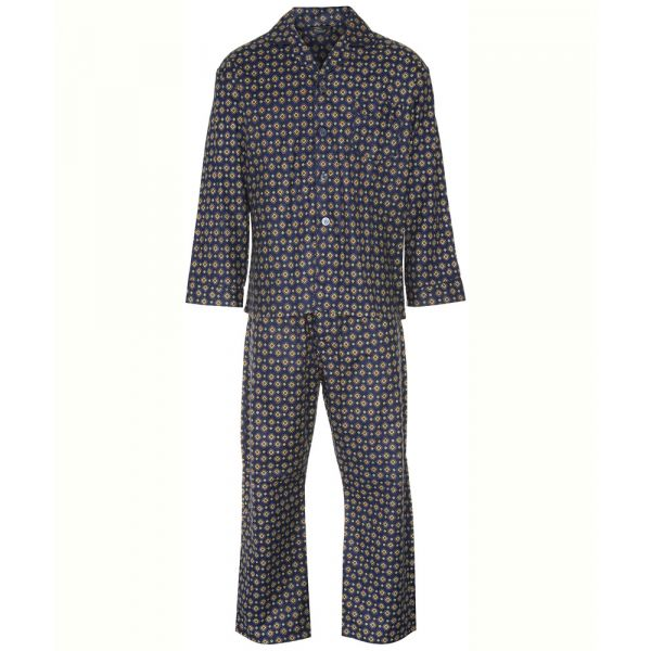Navy Diamond Design Cotton Pyjamas from Champion