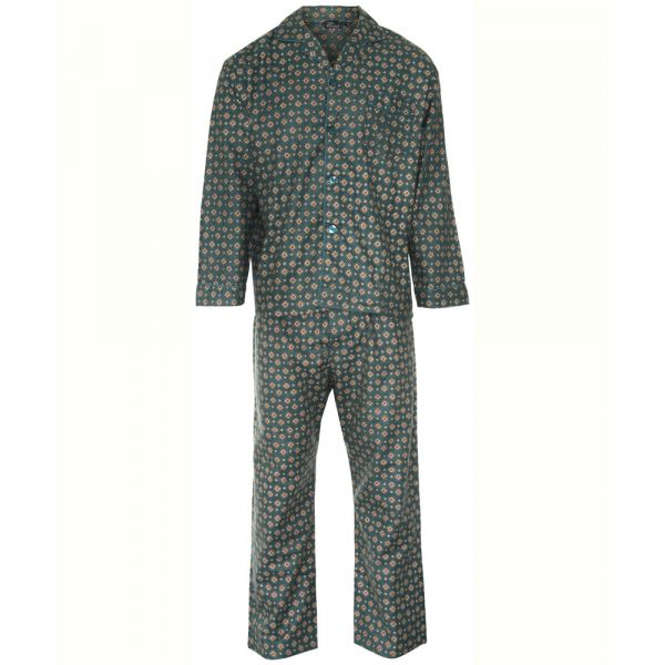 Teal Diamond Design Cotton Pyjamas from Champion