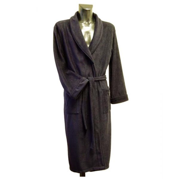 Navy Fleece Dressing Gown from Lloyd Attree & Smith