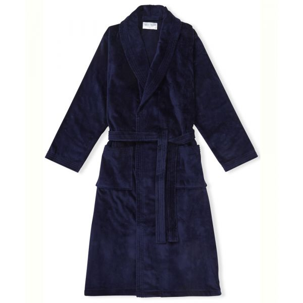 Triton. Navy Velour Gown from Derek Rose