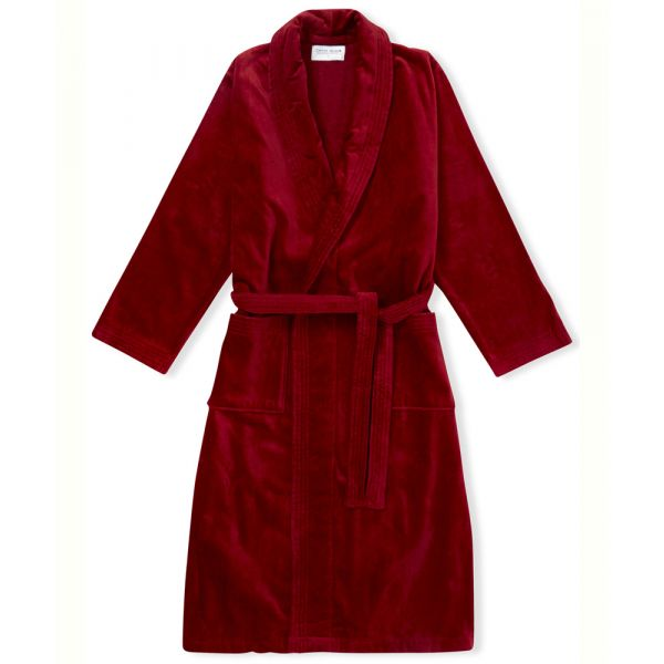 Triton. Wine Velour Gown from Derek Rose