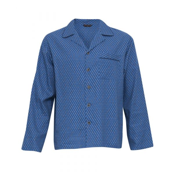 Charlie. Blue Print Long Sleeve Top from Cyberjammies
