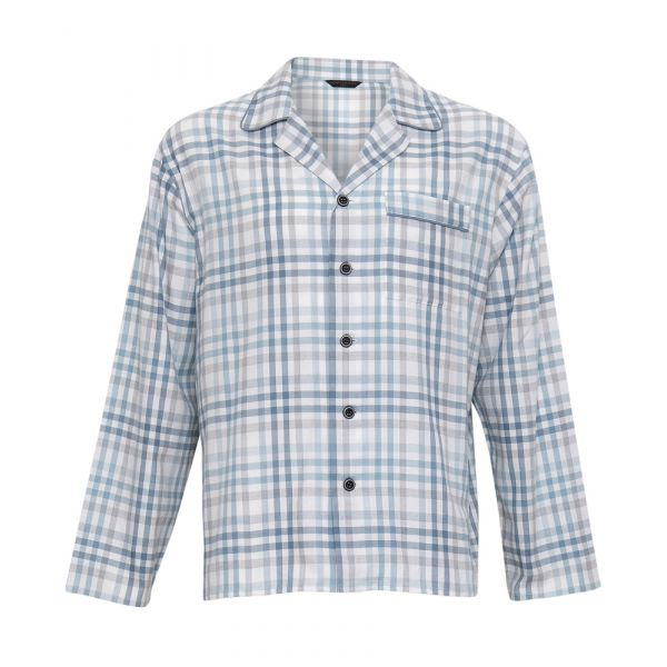 Freddie. Grey Check Long Sleeve Top from Cyberjammies