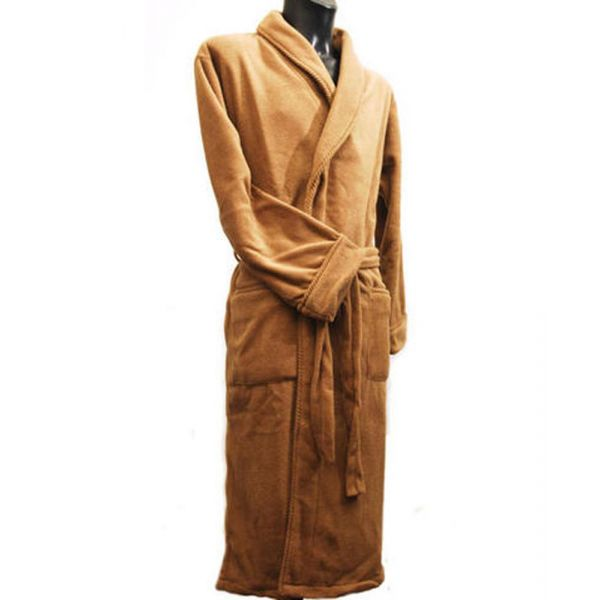 Camel Fleece Dressing Gown from Lloyd Attree & Smith