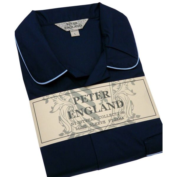 Mens Navy Cotton Pyjamas from Peter England