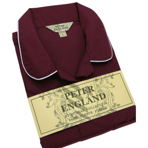 Mens Plum Cotton Pyjamas from Peter England
