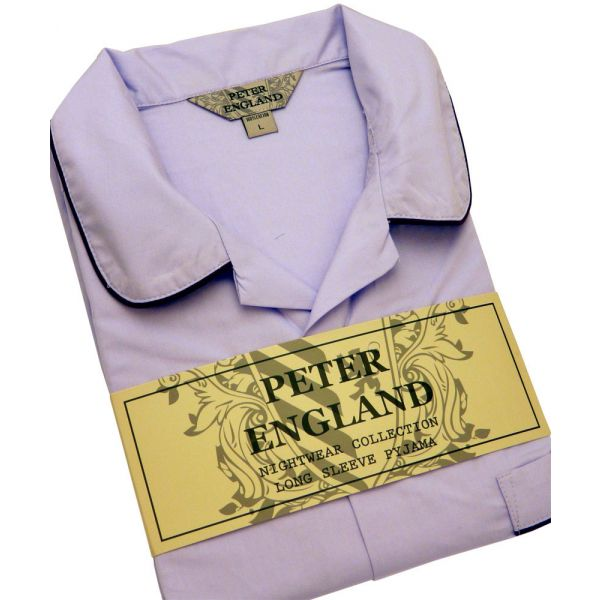 Mens Lilac Cotton Pyjamas from Peter England