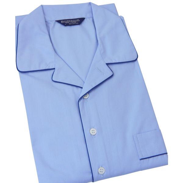 Sky Blue Cotton Nightshirt from Bonsoir of London