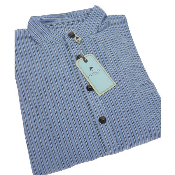 Blue, Navy and Cream Stripe Blarney Stone Nightshirt from Lee Valley
