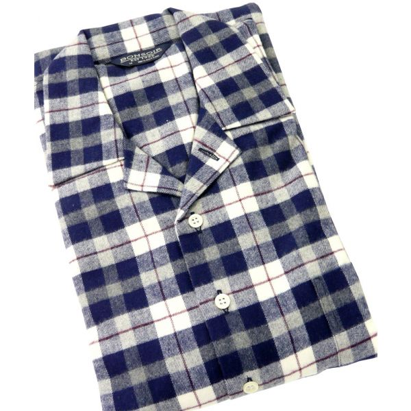 Mens Brushed Cotton Nightshirt in McKellern Design from Bonsoir of London
