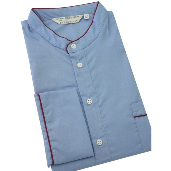 Ocean Blue -Mens Cotton Nightshirt from Derek Rose
