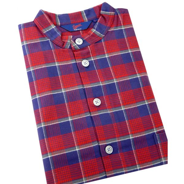 Somax - Mens Nightshirt in Red Check Brushed Cotton