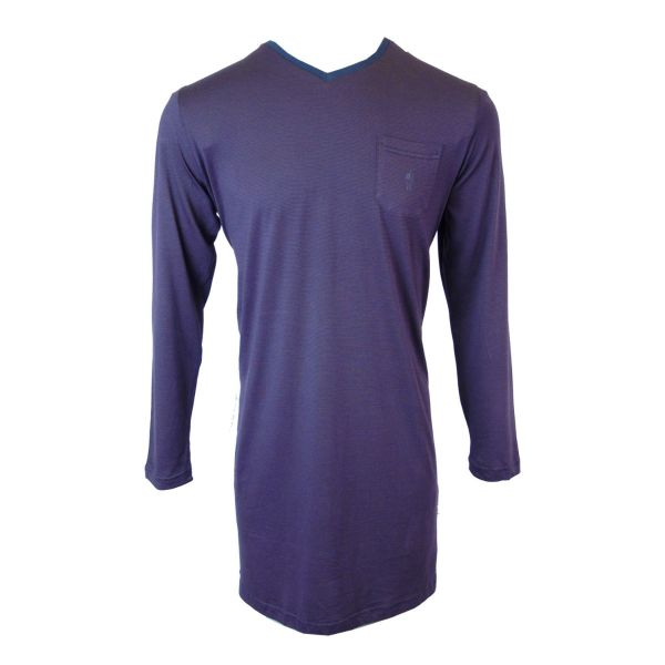 Jockey - Mens Jersey Nightshirt in Claret