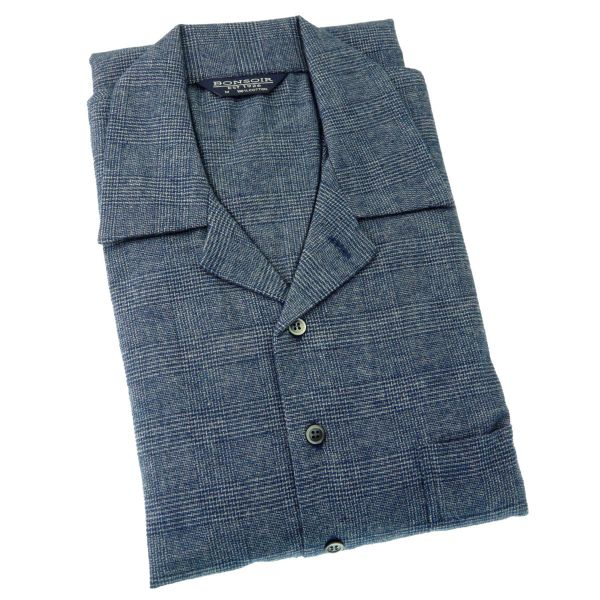 Mens Brushed Cotton Nightshirt - Bude - from Bonsoir of London