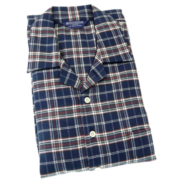 Mens Classic Brushed Cotton Nightshirt - Hartley - from Bonsoir of London