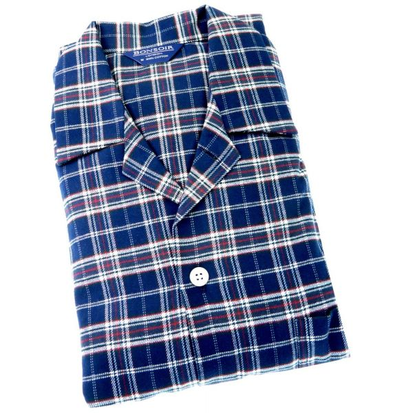 Mens Brushed Cotton Pyjamas - Hartley - Bonsoir of London