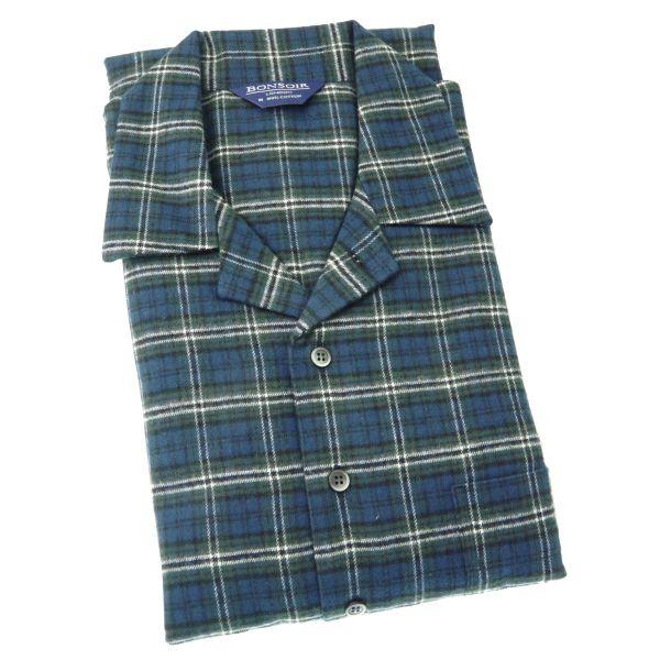Mens Brushed Cotton Pyjamas - Lorton - Bonsoir of London