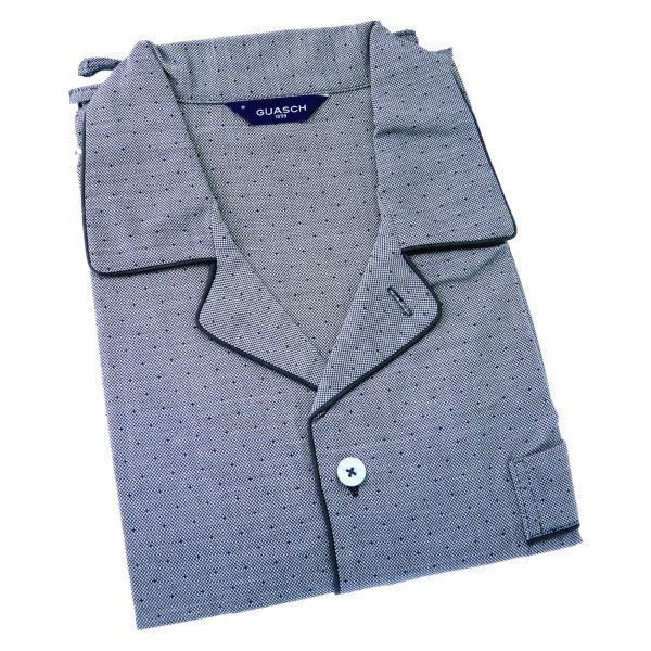 Guasch - Mens Cotton Pyjamas with Tiny Spot