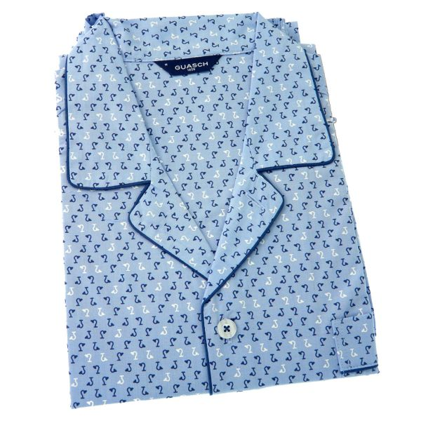 Guasch - Mens Cotton Pyjamas in Light Blue Design