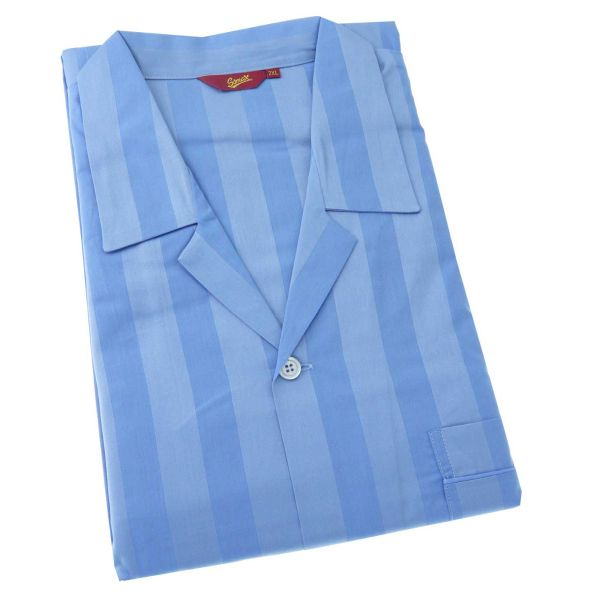 Luxury Satin Stripe Cotton Pyjamas with Tie Waist from Somax