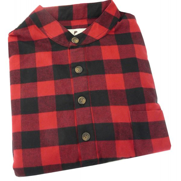 Lee Valley - Mens Flannel Nightshirt in Red and Black Plaid