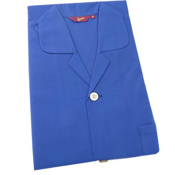 Somax - Mens Cotton Pyjamas in Navy - Elastic Waist