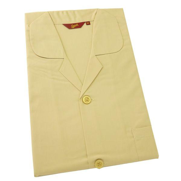 Somax - Mens Cotton Pyjamas in Biscuit - Tie Waist