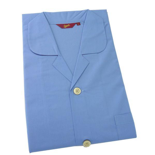 Somax - Mens Cotton Pyjamas in Blue - Tie Waist