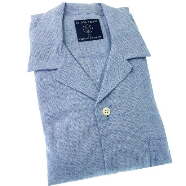 British Boxers - Mens Brushed Cotton Pyjamas - Staffordshire Blue