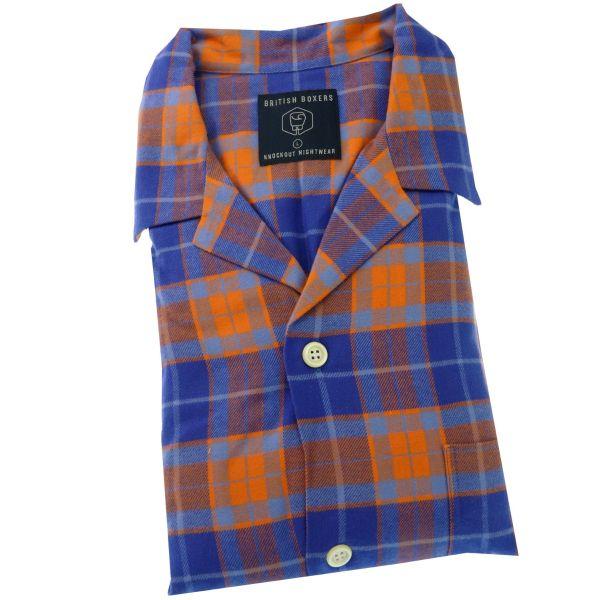 British Boxers - Mens Brushed Cotton Pyjamas - Tangerine Dream