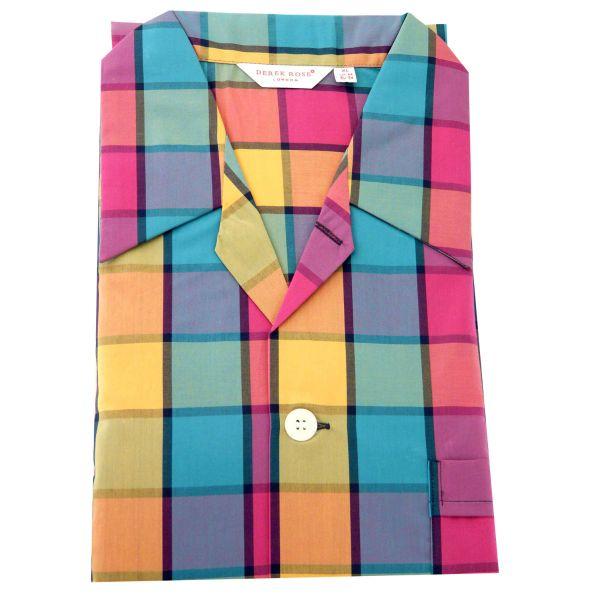 Derek Rose - Mens Cotton Pyjamas - Barker 030 - Multi