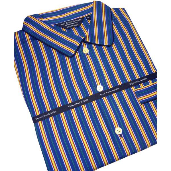 Navy Regimental Stripe Cotton Nightshirt