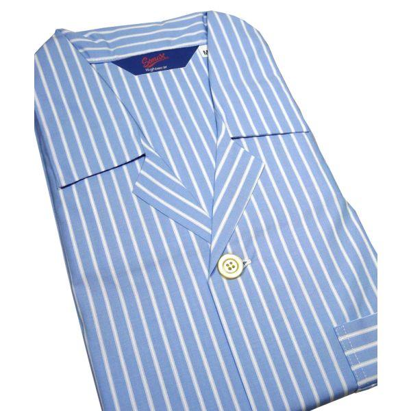 Short Sleeved Cotton Button Through Nightshirt