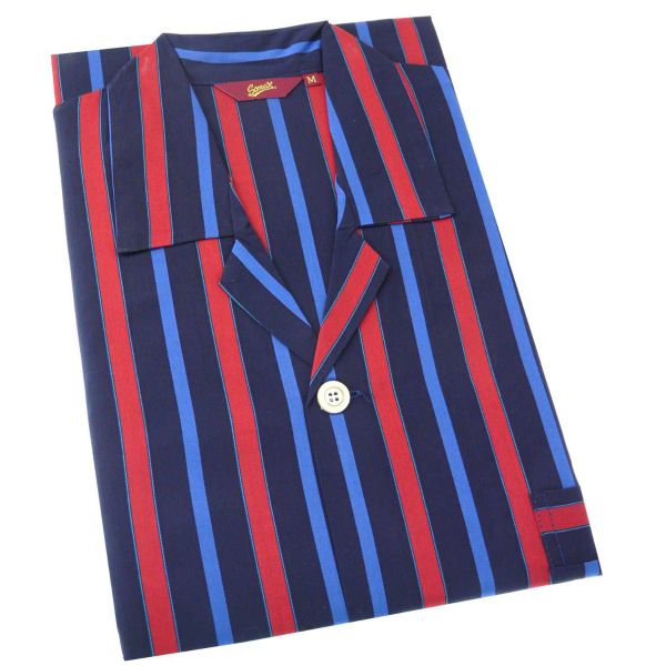Regent Stripe Mens Cotton Pyjamas with Tie Waist